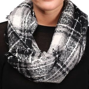 Accessories - Super Soft Black/Gray Infinity Scarf